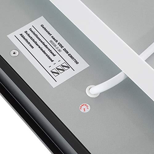 TecTake Spiegel Infrarotheizung Spiegelheizung ESG Glas Elektroheizung Infrarot Heizkörper Heizung inkl. Wandhalterung - 6