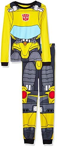 Transformers Boys Little 2 Piece Cotton Pajama Set Bumblebee Uniform 6 product image