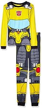 Transformers Big Boy s 2-Piece Cotton Uniform Pajama Set Sleepwear Bumblebee Uniform 8
