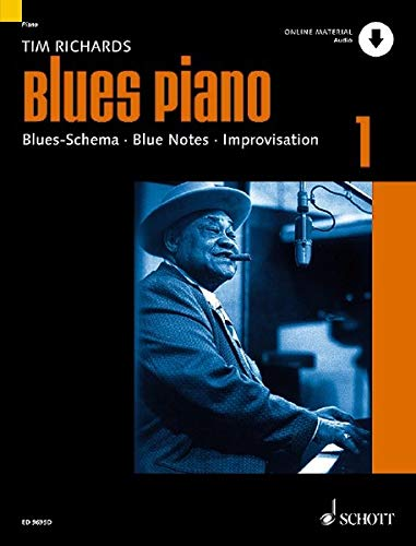 Blues Piano: Blues-Schema - Blue Notes - Improvisation. Band 1. Klavier. Ausgabe mit Online-Audiodatei.
