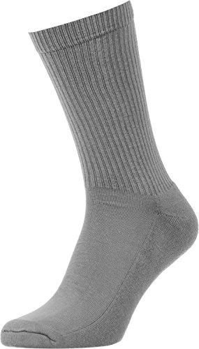 Spirit of 76 the Basics Lo Grey | Halbhohe Retro Crew Socken Grau | stylische Unisex Sport Strümpfe Size XL (47-50)