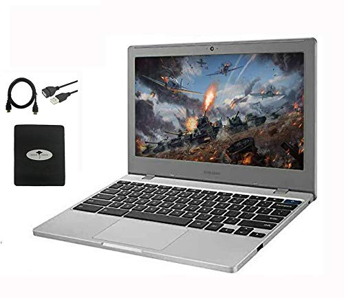 """2020 Newest Samsung Chromebook 11.6"""" Slim Laptop for Business and Student, Intel Celeron N4000, 4GB RAM, 32GB eMMC, up to 12.5 Hours Battery Life, Chrome OS w/128GB Micro SD Card, HESVAP Accessories"""