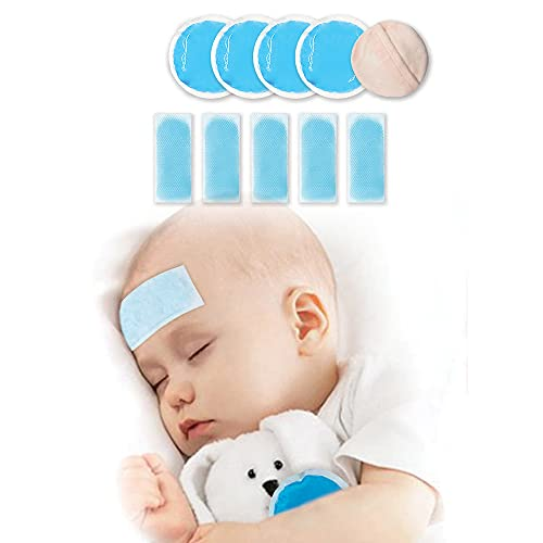 Small Round Gel Ice Packs with Cloth Backing Hot or Cold Therapy for Tired Eyes, Breastfeeding, Wisdom Teeth, Kids Injuries, Sinus Relief, Fever Soft Gel Sheets(5 Sheets) Cooling Relief for Migraine