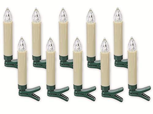 LED-boomkaarsen AX2000010 met IR afstandsbediening, 10 stuks LED-boomkaarsen AX2000010