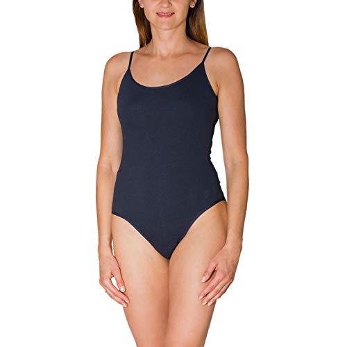 Alkato Body con Tirantes Finos para Mujer, Azul Oscuro, 40