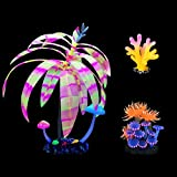 Podazz Accesorios para peceras tropicales, decoración de acuarios, adornos de coral, adornos de peces, decoración artificial para acuarios, paisaje, decoración artificial
