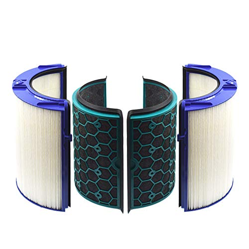 Replacement HEPA Filter & Activated Carbon Filter Compatible with Dyson HP04 TP04 DP04 Sealed Two Stage 360° Filter System Pure Cool Purifying Fan.1-Set