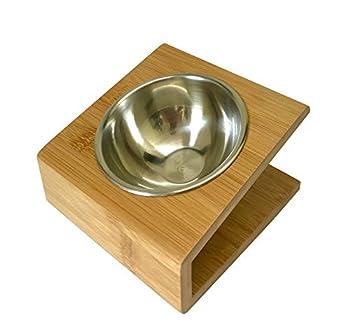 Gamelle en bambou pour chat (170ml)