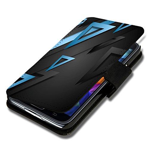 sw-mobile-shop Book Style Flip Handy Tasche Case Schutz Hülle Schale Motiv Foto Etui für Wiko Ridge Fab 4G - X3 Design5