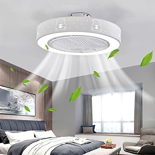 HAITOY Ventilador de Techo LED, Ventilador de Techo Moderno y Creativo con Ventilador de Techo LED con Control Remoto, lámpara de araña para Sala de Estar y Dormitorio con lámpara de Ventilador