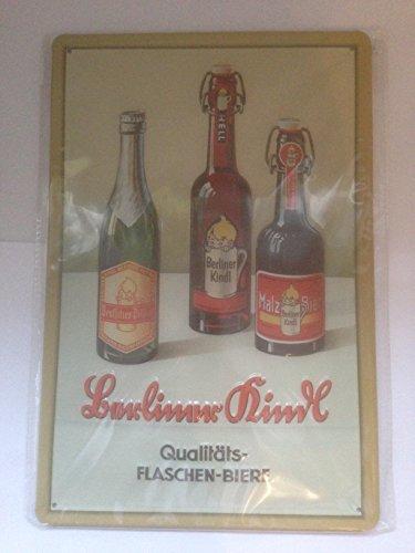 Sconosciuto 'Targa in metallo Berliner Kindl Buegel bottiglie di birra, convesso, in rilievo, l' automobile, frecce, Nostalgia, Cartelli, cucina