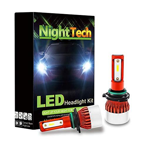 LED-lampen 9005/HB3/H10/9006/HB4, koplampen, voor autolampen, V2-serie 6000 K, 9 V-36 V, 48 W, 9600 lm, auto-vervanglampen voor halogeenlampen en Xenon set (2 stuks), 9006/HB4