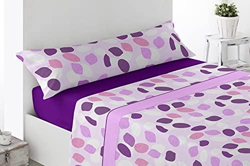 Energy Colors Textil - hogar - Seattle - Juego Sábanas Estampada Verano Microfibra 3 Piezas (Rosa Hig, 135_x_200_cm)
