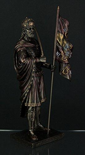 Resin Statues Byzantine Emporer Constantine Xi Palaiologos Bronze Finish Statue 6.25 X 12 X 3.5 Inches Bronze
