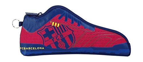 Safta 811572584 F.C Barcelona - Étui à crayons de football, couleur bleu et granit