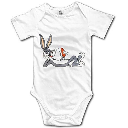 Nascb Bugs de Conejo de Dibujos Animados Bunny Eat Carrot Baby Onesie Body de bebé