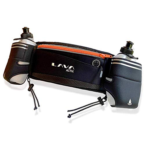 Lava Activ Hydration Running Belt with 2X Water Drinking Bottles | Sports Bag/Pack Perfect for Fitness, Marathon, Training, Exercise | Fits Smartphones | The HYDRABELT