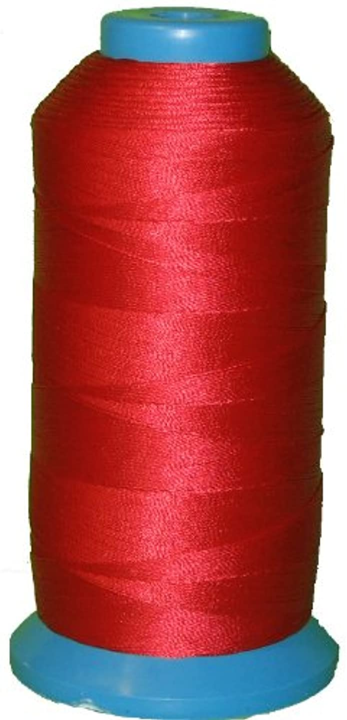 Item4ever True RED Bonded Nylon Sewing Thread #138 T135 1250 Yard for Outdoor, Leather, Upholstery