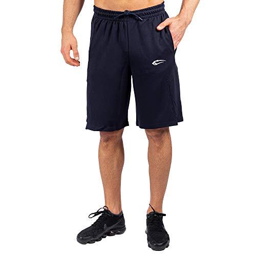 SMILODOX Herren Shorts Ontario Kurze Hosen für Sport Gym Training | Sporthose - Freizeithose - Trainingshose - Sweatpants Jogger - Jogginghose Kurz, Farbe:Blau, Größe:XXXL