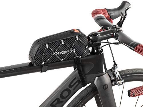 ROCKBROS Rahmentasche Fahrradtasche für Fahrradrahmen Oberrohrtasche ca.1L 22 * 10 * 5,5cm für iPhone X/Xs Max/XR 7/8 Plus