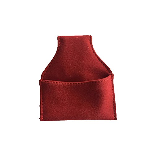 Funky Chalk Bolsa de Tiza de Piel sintética, 3 Colores, Rojo