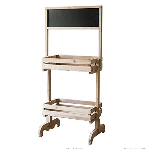 JCNFA planken Blackboard Stand, Met 2-laags Display Stand, Message Board, Tekening Tool Shelf, Shop Stand