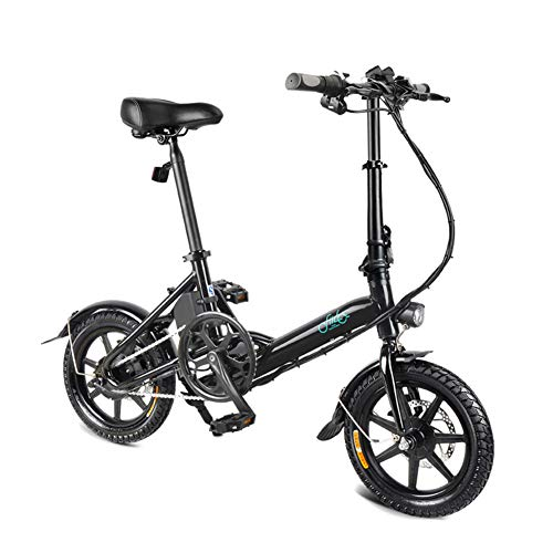 Electric Folding Bike Foldable Bicycle Double Disc Brake Portable for...