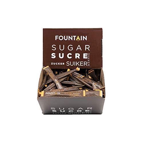 FOUNTAIN Bustine di zucchero a sigaretta. Bustine stick di zucchero in una confezione self-service. Zucchero bianco in dosi individuali, perfetto per una tazza di caffè. 4 g x 600 pz.