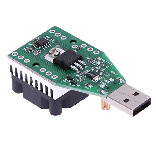 Guangcailun 15W USB Lastwiderstand DC 3.7-13V einstellbare Konstantstrom Elektronik Last Entlader Batterie-Kapazität Test-Messinstrument mit Fan
