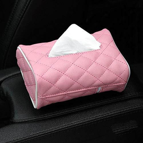 LinZX Gewebe-Kasten PU-Leder-Auto-Gewebe-Kasten-Serviette-Halter Sonnenblende Hanging Aufbewahrungsbehälter für Auto-Rücksitz-hängende Papierhalter,PK