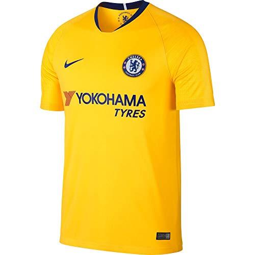 Nike CFC M Nk BRT Stad JSY Ss Aw Trikot 2. Trikot Chelsea FC 17-18 Herren S Gelb/Blau (Tour Yellow/Rush Blue)