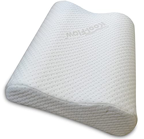 Memory Foam Cervical Neck Pillow for Sleeping - Chiropractor Designed Orthopedic Contour Support - Best for Neck and Shoulder Pain Relief - Made in USA CertiPUR-US (Large)