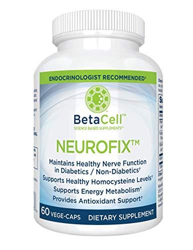 Neurofix Nerve Support Formula 60 Vege-Caps |B-Vitamins, Alpha Lipoic Acid 300mg and Folates for Healthy Nerve Function - Neuropathy Supplement