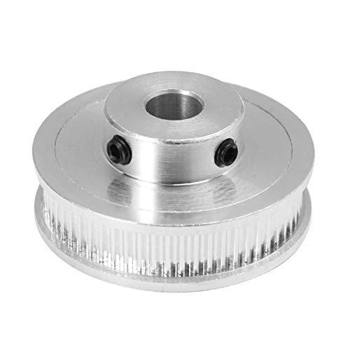 UKCOCO Rueda síncrona de la rueda GT2 60 de la aleación de aluminio de la rueda dentada de la correa dentada del diámetro interior 8m m para la impresora 3D