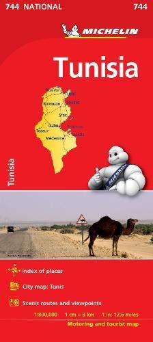 Tunisia - Michelin National Map 744 (Michelin National Maps)