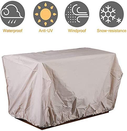 Cubierta protectora de objetos para muebles de jardín, impermeable, resistente al viento, anti UV, resistente al agua, 210OxforFabric Rectangula 152,4 x 88,9 x 81,28 cm.