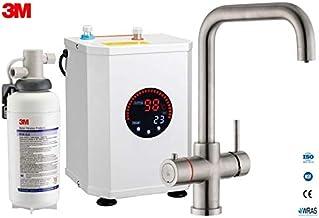 3-in-1 Multi-Tap kokend water kraan incl. boiler & 3M waterfilter, L-uitloop-Brushed Nickel