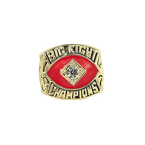 CLCL Anillo de Hombres 1987 Oklahoma State University Shortcut Champion Ring Replica Championship Ring Fans Collection Gift, Without Box, 11#