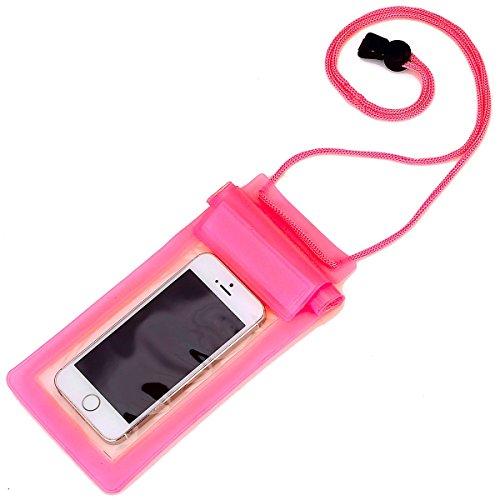 RE:CRON® Handy Schutztasche wasserdicht - pink transparent