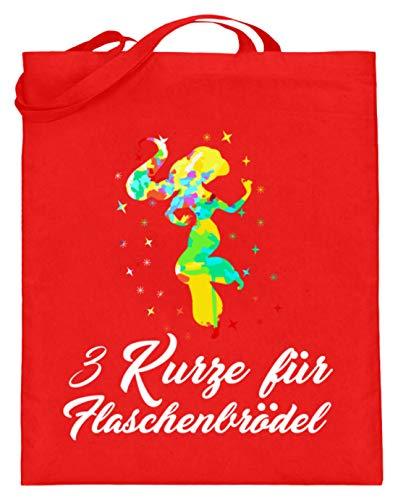 3 Kurze Für Flaschenbrödel - Beschwipste Prinzessinnen, Alkohol, Spirituose, Party, Feiern - Jutebeutel (mit langen Henkeln)