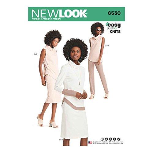 New look patroon 6530 vrouwen gebreide broek, rok en tuniek, papier, wit, 22 x 15 x 1 cm