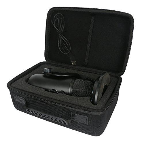 Hard Travel Case for Blue Yeti USB Microphone - Blackout Edition by Khanka
