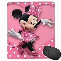マウスパッドミッキーミニー防水、洗える、耐久性、滑り止めオフィスラグジュアリーラグジュアリーラグジュアリーキュート25x30x0.3cm