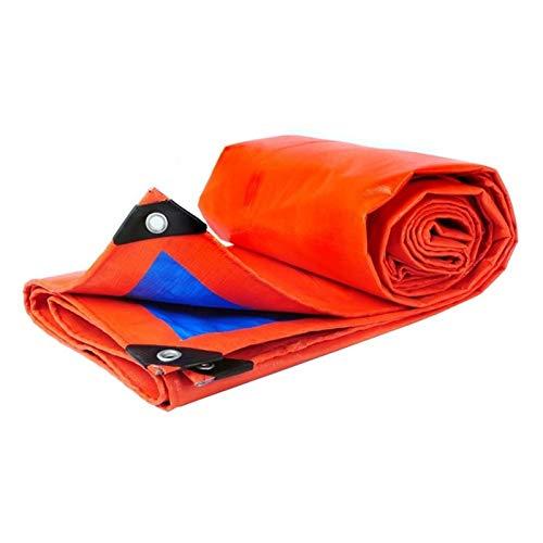 REWD Duradera Lona Impermeable Exterior con Ojales Cubierta Multifuncional para Acampar, Pesca, jardinería y Mascotas (Color : Blue Orange, Size : 8x12m)