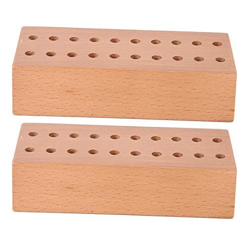 Soporte de destornillador de madera maciza, tiempo de servicio prolongado, resistente, tamaño compacto, almacenamiento de brocas, peso ligero y duradero, práctico para trabajadores de