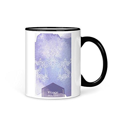 aina Tasse Kaffeetasse Horoskop Waage Sternzeichen