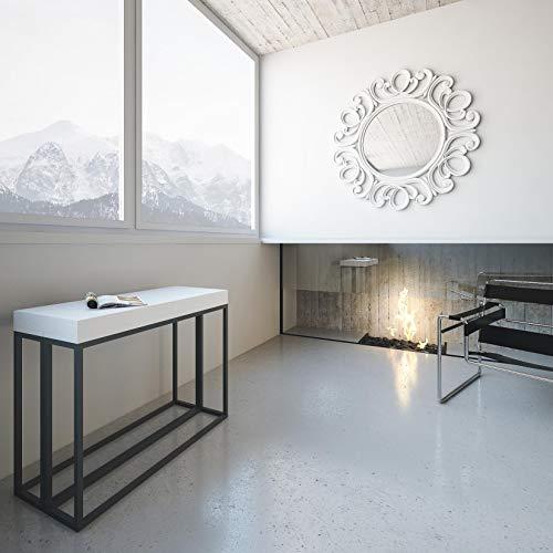 Itamoby Consolle Allungabile Epoca Small Bianco Frassino & Antracite L.90 x H.77 x P.40, allungabile Fino a 196 cm