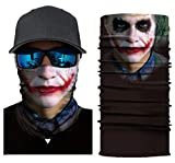 UK A2Z Joker Skull Mask Skeleton Motorcycle Biker Scarf Face Neck Ski Shield Cold Nose Ear Ears Dust Paintball Snood Scarf Headband
