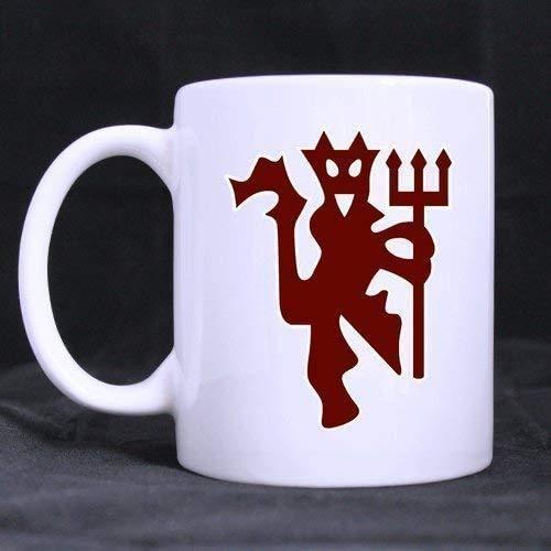 N\A Kaffeetasse 11oz-Tasse Coole Manchester United Devil Logo 11 OZ weiße Tasse 100% Keramik Kaffee/Tee weiße Tasse