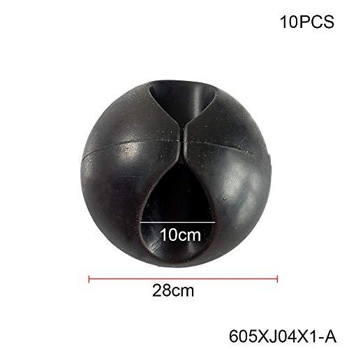 HANLING- CNIKESIN Clip di fissaggio for auto Fermacravatta autoadesivi Clip for montaggio su cavo Linea auto Computer Linea USB Finitura Cartella clip fissa (Color Name : XJ04X10 A)